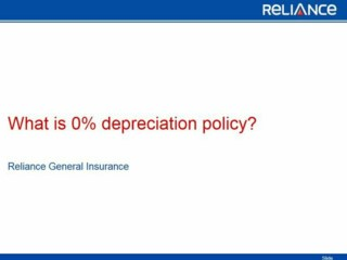 What is 0% Depreciation in Car Insurance-Reliance General Insurance