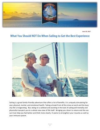 What You Should NOT Do When Sailing to Get the Best Experience