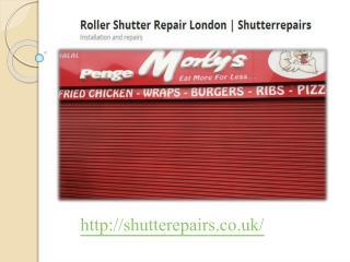 shutter repairs london