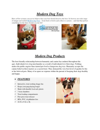 Modern Dog Toys - Paw-avenue.com.au