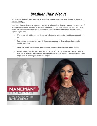 Brazilian Hair Weave - manemanindianhair.com