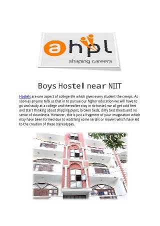 Boys Hostel near NIIT