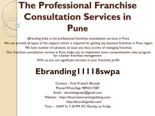 The Professional Franchise Consultation Services in Pune