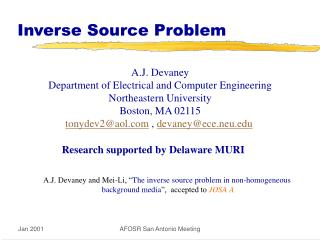 Inverse Source Problem