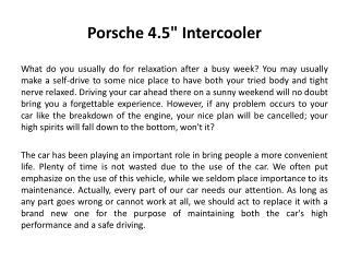 """Porsche 4.5"""" Intercooler"""