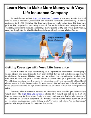 Learn How to Make More Money with Voya Life Insurance Company