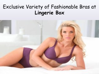 Beautiful Collection of Lingerie at Lingerie Box