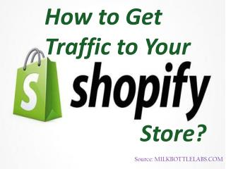 How to Get Traffic to Your Shopify Store?