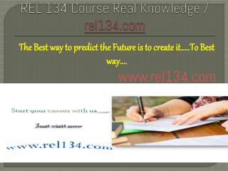 REL 134 Course Real Knowledge / rel134.com