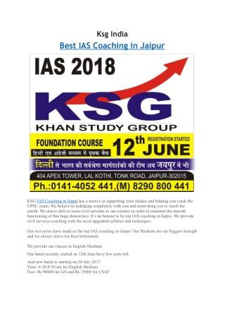 Top 5 Best IAS Coaching In Jaipur