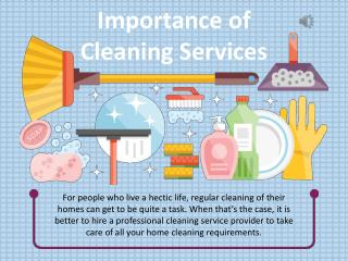 Importance of Cleaning Services - Todays Maid Service