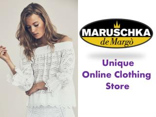 Unique Online Clothing and Fashion Store