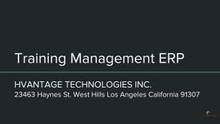 Training Management ERP