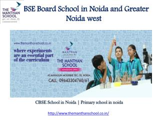 CBSE Board School Noida - The Manthan School