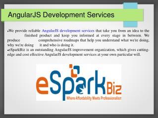 AngularJS Development Company | AngularJS Developer|eSparkBiz
