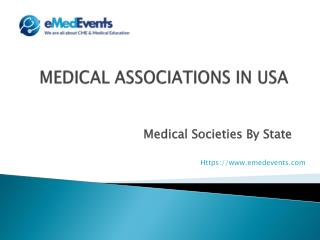 Medical Associations in usa | eMedEvents