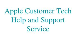 Apple Customer Tech Help and Support Service