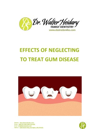 Effects of Neglecting Gum Surgery