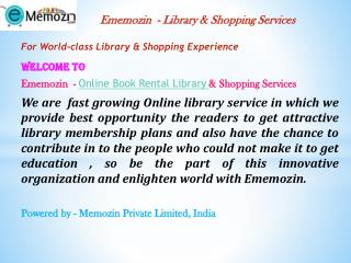 Online Book Rental Library |Online Rental Library service