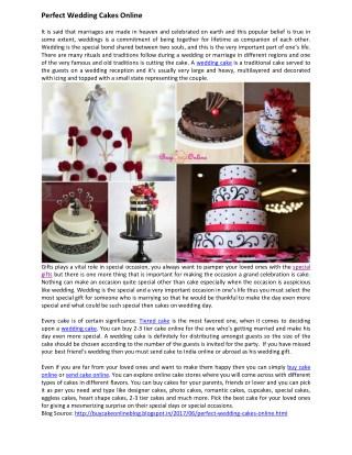 Perfect Wedding Cakes Online