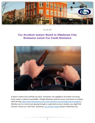 Car Accident Lawyer Based in Oklahoma City Evaluates Latest Car Crash Statistics
