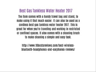 Best Gas Tankless Water Heater 2017