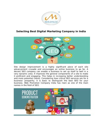 Selecting Best Digital Marketing Company in India