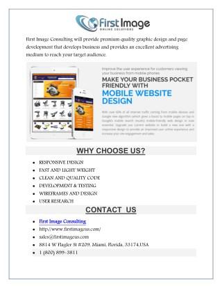 Miami Website Design Services by Firstimageus.com