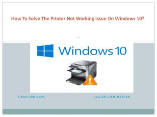 How to solve the printer not working issue on Windows 10
