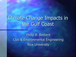Climate Change Impacts in the Gulf Coast