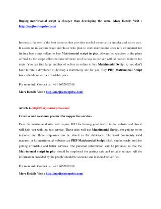 Matrimonial Script php