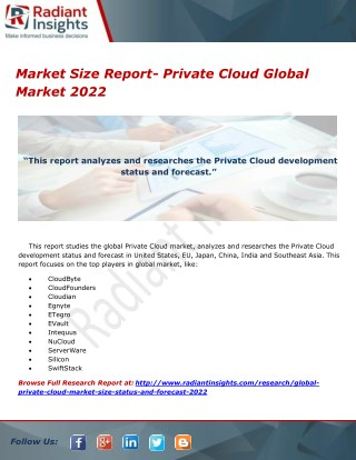 Market Size Report- Private Cloud Global Market 2022