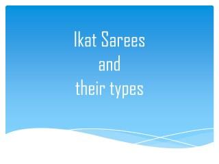 Ikat Sarees