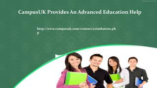 CampusUK Provides An Advanced Education Help
