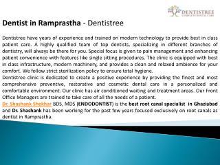 Dentist in Ramprastha - Dentistree