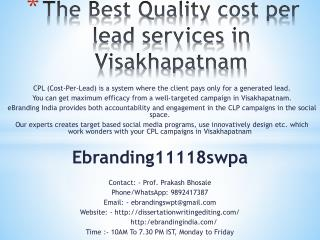 The Best Quality cost per lead services in Visakhapatnam