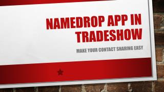 Namedrop App In Trade Shows