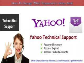 How to change a password in yahoo! mail