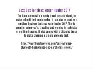 Best Gas Tankless Water Heater 2017