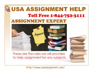 Assignment Expert | Toll Free 1-844-752-3111