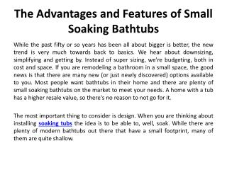 soaking tubs