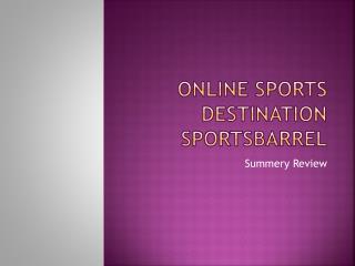 Online Sports Destination