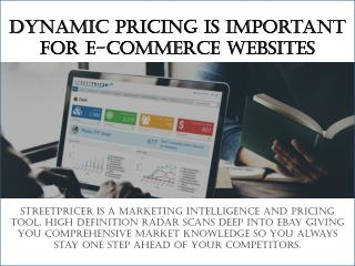 Dynamic Pricing is important for E-commerce websites
