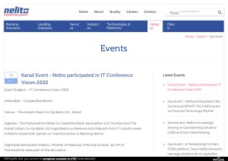 Karad Event - Nelito participated in IT Conference Vision 2020