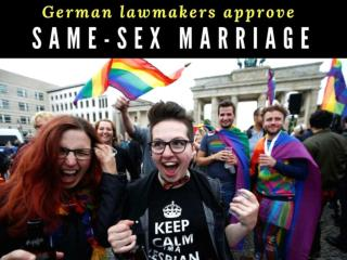 German parliament legalises same-sex marriage