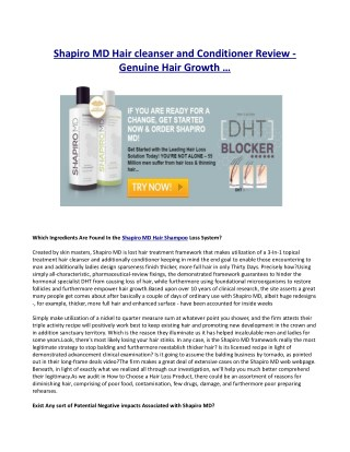 Exactly how Does Shapiro MD Help Hair Growth?