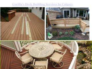 Calgary's Best Deck Building Services