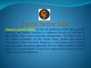 channel partner opportunities