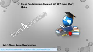 Buy Microsoft 98-369 Dumps PDF - 2017 98-369 Braindumps Dumps4Download.in