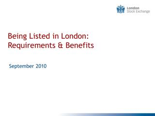 Being Listed in London: Requirements  Benefits